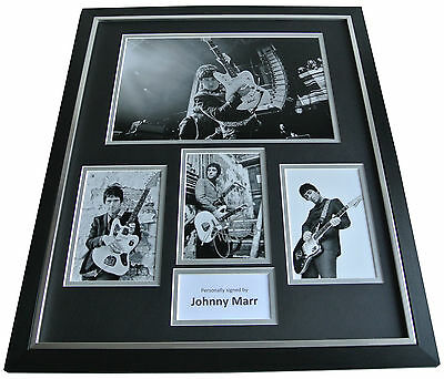 Johnny Marr SIGNED FRAMED Huge Photo Autograph display Smiths Music Guitar & COA