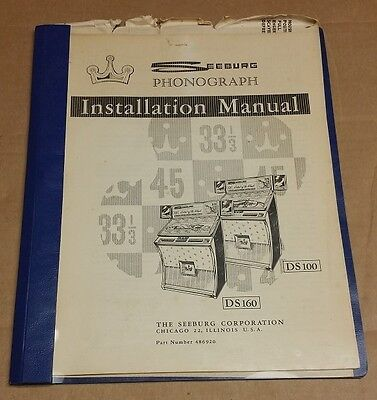 Seeburg DS-100 & DS-160 Jukebox Installation Manual - Used AY