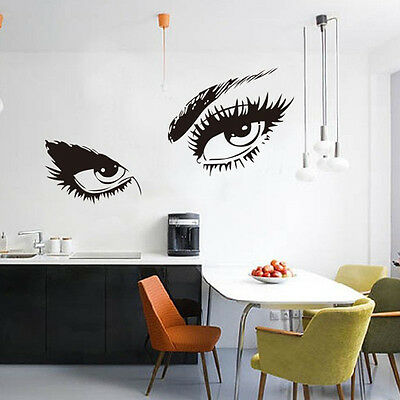 Nice Stickers Audrey Hepburn's Eyes Silhouette Wall Sticker Decals Home Decor UK