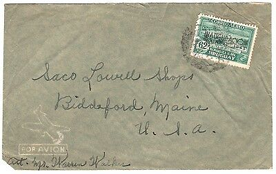 Envelope, Uruguay Airmail to Maine, with C120, c. 1946