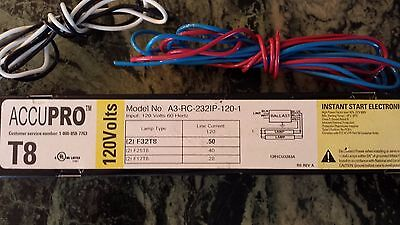 **NEW** ACCUPRO T8 A3-RC-232IP-120-1 Electronic Ballast 120V, 60Hz