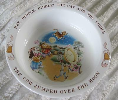 """1984 Avon Child's 6"""" Bowl Cow Jumped Over The Moon"""