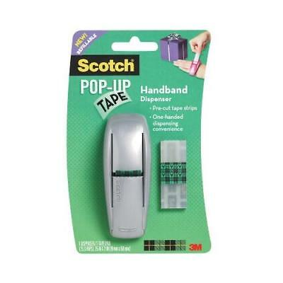 Scotch Pop-Up Tape Handband Dispenser, 3/4 x 2 Inches, 75 Strips/Pad, 1 New