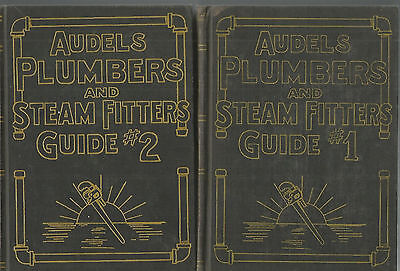 AUDELS Plumbers and Steam Fitters Guide #1+ #2 Hc Set 1950 VINTAGE ILLUSTRATIONS