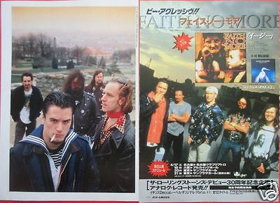 FAITH NO MORE Mike Patton 1993 CLIPPING JAPAN MAGAZINE RO 5A 2PAGE