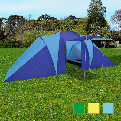 Blue/Green/Yellow Family 6 Person Camping Dome Tent Beach Hiking Canvas Shelter