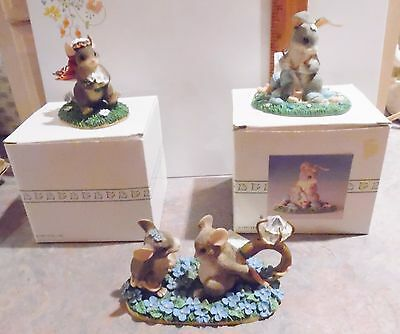 Fitz and Floyd Charming Tails - Lot of 3 Figurines - MIB - Here Comes the Bride+