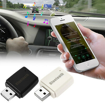 USB Bluetooth 3.5mm Car Receiver AUX Audio Stereo Music Player Home Adapter New