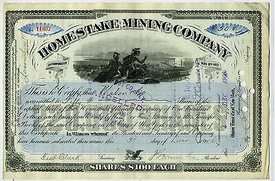 Stock Certificate – Homestake Mining Co. – 1906