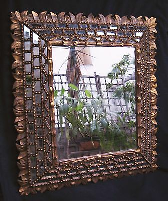 ANTIQUE GREAT 19thC BEAUTIFUL HAND CARVED GILT WOOD MIRROR