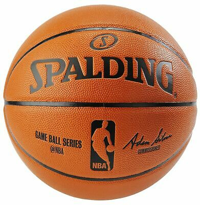 Brand New Spalding NBA Replica Full Size Game Ball Autograph Basketball 29.5""