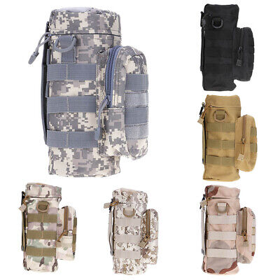 Military MOLLE Tactical Travel Water Bottle Kettle Pouch Carry Bag Holder Case