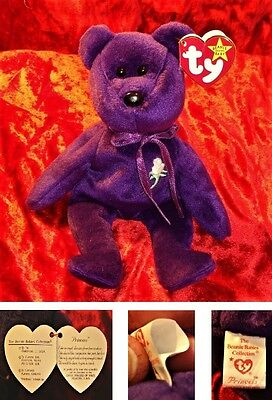 Princess Di - Rarest Beanie Baby Ever - Has The Red Heart on the Tag - 1997 RARE