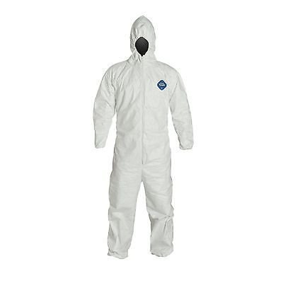 LOT OF 3- DuPont TYVEK TY127S Disposable Coveralls Suit Hood Elastic SMALL