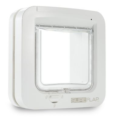 GENUINE Sureflap Microchip Cat Flap Small Dog Big Cats - WHITE