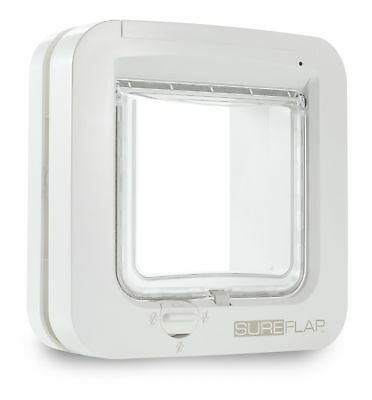 GENUINE Sureflap Microchip Pet door Catflap Small Dog Big Cats WHITE
