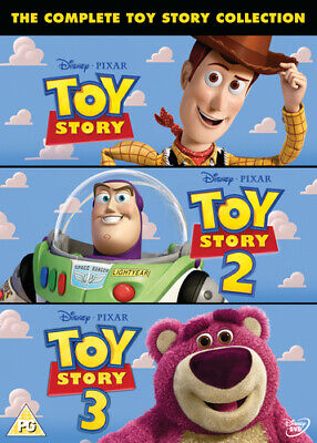 Toy Story 1-3 DVD (2010) John Lasseter cert PG 3 discs FREE Shipping, Save £s