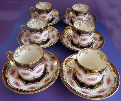 Vintage Paragon Coffee Cup Can and Saucers x6 for Display 1920s