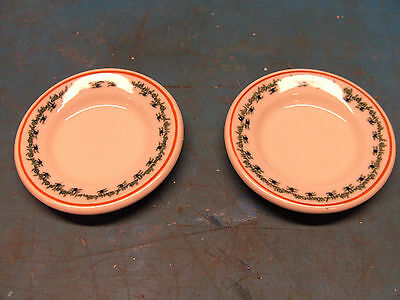 "Lot of 2 Vintage Ivory Lamberton Scammell 2 3/8"" Small Butter Pat China Plates"