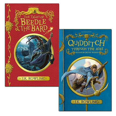 J.K. Rowling 2 Books Set Quidditch Through the Ages,Tales of Beedle the Bard NEW