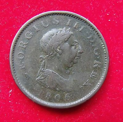 1806 George III  copper penny a good COIN NICE CONDITION