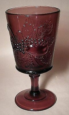 L G Wright Amethyst Glass STRAWBERRY CURRANT/Current Water Goblet
