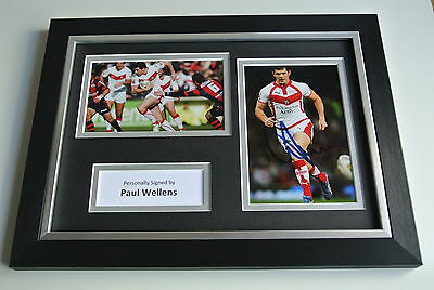 Paul Wellens Signed A4 FRAMED photo Autograph display St Helens Rugby AFTAL COA