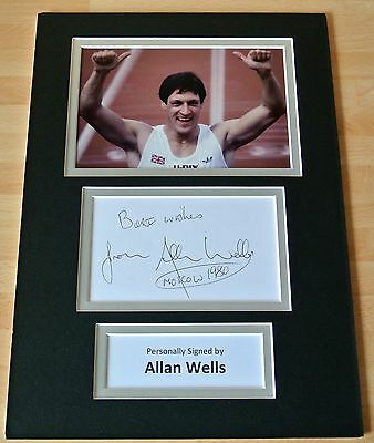 ALLAN WELLS hand SIGNED autograph A4 Photo Mount Display OLYMPIC MOSCOW GIFT COA
