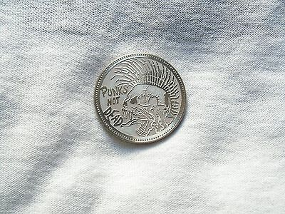 Punk Not Dead Coin On The Back 50 Pesos Coyolxauqui.