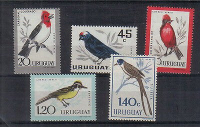 Uruguay 1962 Birds Airs Five values to 1p40 unmounted mint
