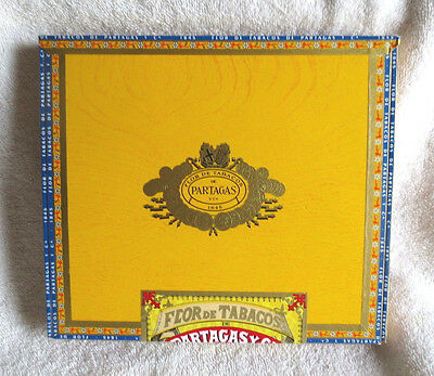 Partagas #10 Yellow Paper Covered Wood Cigar Box  - Nice!