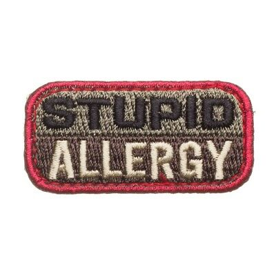 Mil-Spec Monkey Embroidered Stupid Allergy Humor Morale Velcro Patch ACU