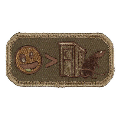 Mil-Spec Monkey Embroidered Strategery Hook Fastener Humor Patch Forest Green