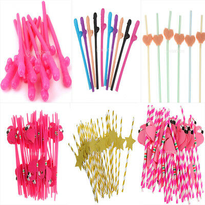 Hens Night Willy Boob Star Flamingo Straws Wedding Party Favors Drinking Straws