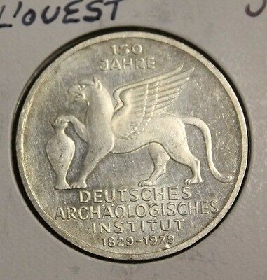 Germany 1979 J 5 Mark Silver German Archaeological Institute about UNC