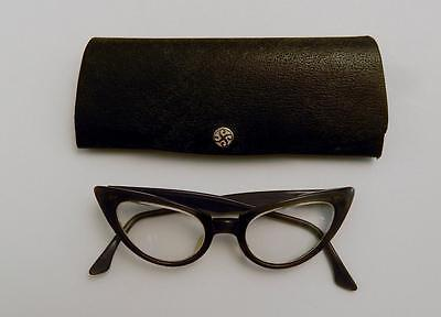 Vintage 1950's American Optical Cats Eye Glasses with Hard Case 5 1/2