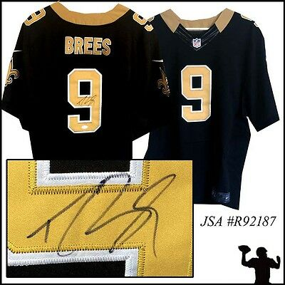 Drew Brees Signed New Orleans Saints Football Jersey - Autographed - JSA #R92187