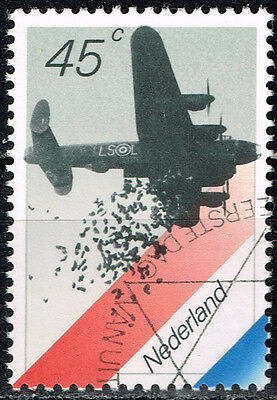 Netherlands WW2 British Bomber Dropping Food in 1945 stamp