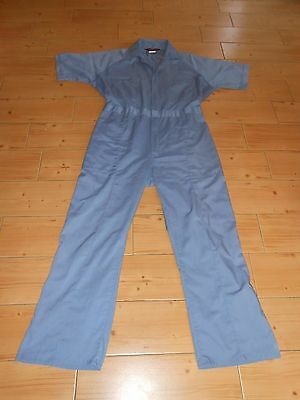 Vtg 70's Men's ParaSuit Jumpsuit Coveralls Work Mechanic Uniform Lt Blue M-L