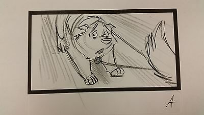 Balto Animated Film - Storyboard - Sled Dog -USSBA.009.876