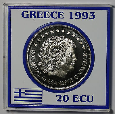 1993 Greece 20 ECU X# 33  Proof Rare Coin Alexander the Great 3000 Issued