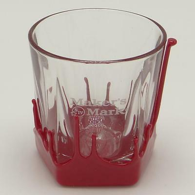 Makers Mark Bourbon Classic Red Wax Dipped Low Ball Glass Tumbler Snifter