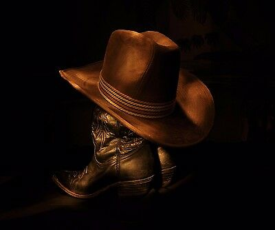 COWBOY HAT AND BOOTS WESTERN WEAR COMPUTER MOUSE PAD  7 x 9 OR HOT PAD