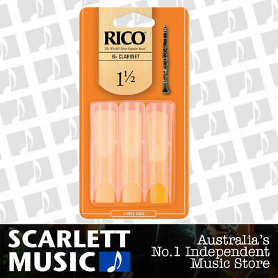 Rico Bb Clarinet Reeds 3 Pack Reed Size 1.5 / 1 1/2 RCA0315 3PK