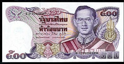 Thailand. 500 Baht, 2 D 0235897, 91988-96), Almost Uncirculated.