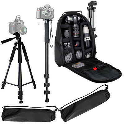 "72"" Tripod + 72"" Monopod + Backpack for DSLR Cameras/Camcorders"