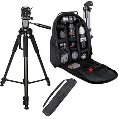 72'' Full Size Tripod + SLR Backpack for Canon 70D 60D 6D 7D 40D 20D 30D T6 T6i
