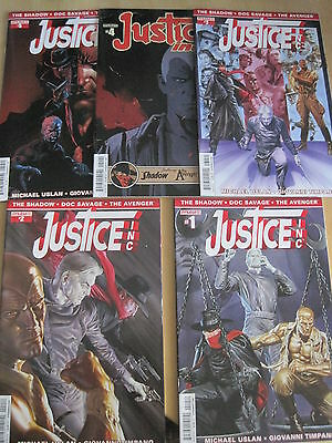 Justice Inc : Complete 5 Issue Series. Dynamite.2014. Shadow, Doc Savage,avenger