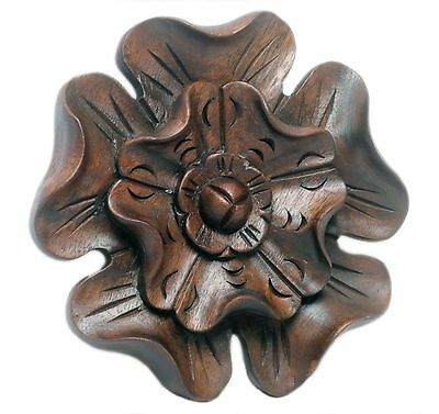 Fabulous Ecclesiastical Wooden Onlay Medallion Finely Carved