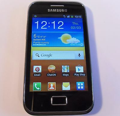Samsung Galaxy Ace Plus GT-S7500 - 3GB - Black (Unlocked) Smartphone Mobile